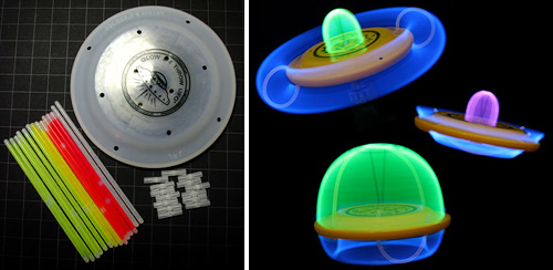 Glow And Throw UFO Flying Disc (Images courtesy ThinkGeek)