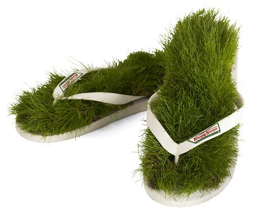 Krispy Kreme Grass Flip Flops (Image courtesy Krispy Kreme)