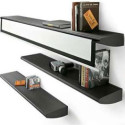 Stylish Aluminum Liv'it Shelf Hides A Retractable Screen
