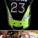 Speed Vest Shows Biker's Current MPH