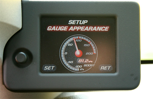 GM's Reconfigurable Performance Display (Image courtesy GM Tuner Source)
