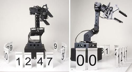 Stonehenge Robotic Digital Clock (Images courtesy Norris Labs)