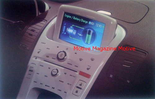 Chevy Volt Interior? (Image courtesy Motive Magazine)