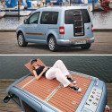 VW Caddy Topos Sail Concept Features A Wooden Deck Up Top