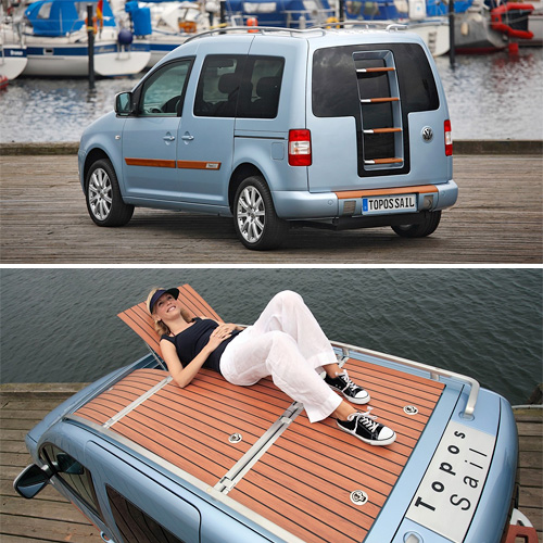 VW Caddy Topos Sail Concept (Images courtesy Volkswagen)