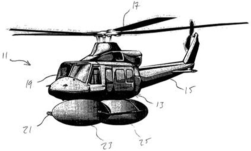 Bell Helicopter Airbag Patent (Image courtesy WIPO)