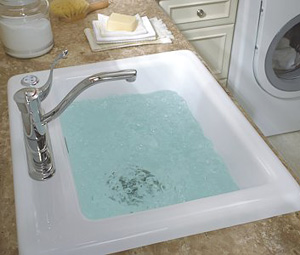 Delicair Laundry Basin (Image courtesy Aquatic Industries)