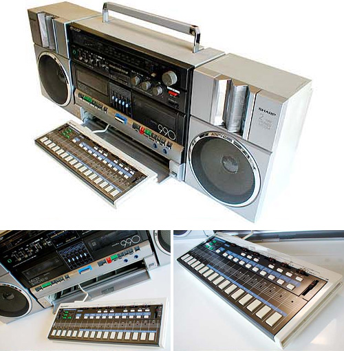 Sharp MR-990 Melody Searcher Boombox With Mini-Organ