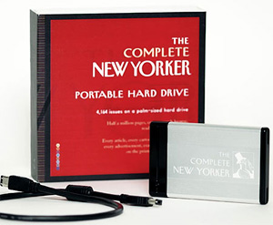 The Complete New Yorker Portable Hard Drive (Image courtesy The New Yorker Store)