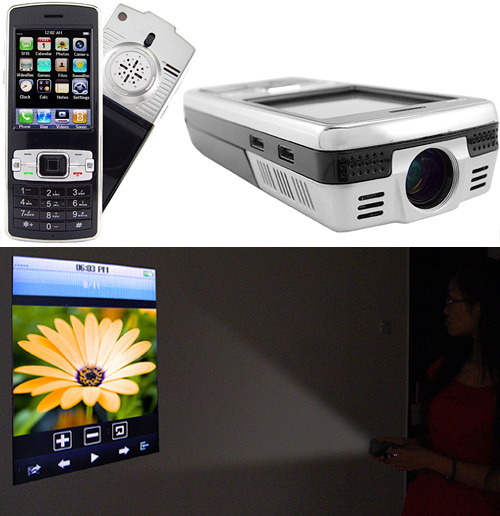 Projector Phone (Images courtesy Chinavasion)