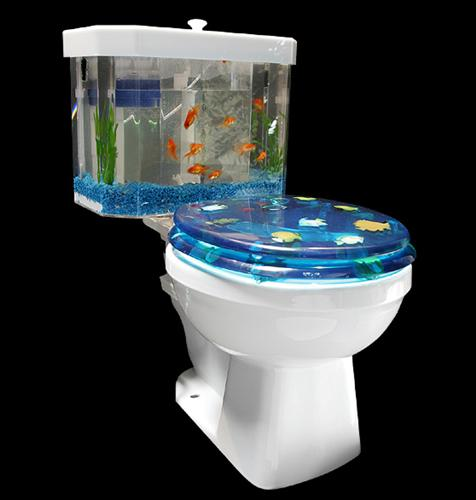 Bathroom Fitting Cost >> Fish Tank Friday: Bathroom Aquaria | OhGizmo!