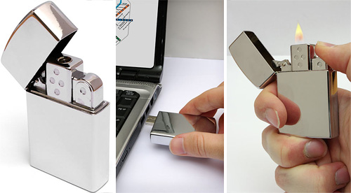 USB Flash Drive Lighter (Images courtesy ThinkGeek)