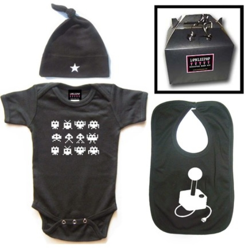 Wrap your little one in custom Gaming baby clothes. Cozy comfort at Zazzle! Personalized baby clothes for your bundle of joy. Choose from huge ranges of designs today! Player 3 Has Entered the Game Video Game Baby Baby Bodysuit. $ 15% Off with code SHOP2DAYZAZZ. Girl Player 3 Has Entered the Game Video Game Baby Baby Bodysuit. $