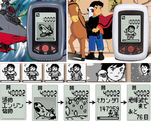 Bandai RPG Pedometers (Images courtesy Trends In Japan)