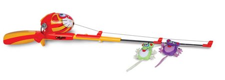 Catch a kitty with this fishing rod reel ohgizmo for Cat fishing pole