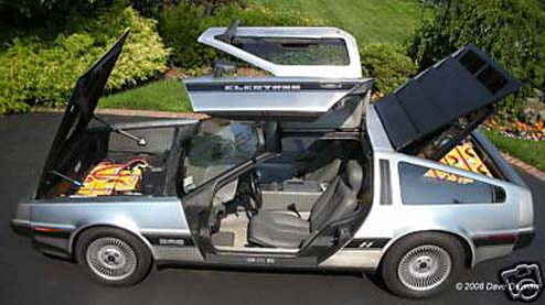 electric delorean up for sale flux capacitor included ohgizmo. Black Bedroom Furniture Sets. Home Design Ideas
