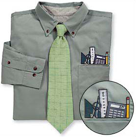 Engineer Topper Dress Shirt & Tie Set (Image courtesy Computer Gear)