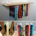 Inverted Bookshelf Is A Clever DIY Ruse