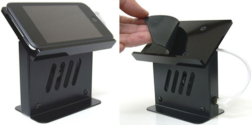 Bird-Electron EZ-18B iPod Touch Speaker Stand (Images courtesy AudioCubes)
