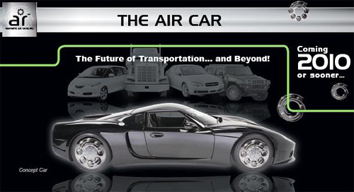 Magnetic Air Car Concept (Image courtesy Magnetic Air Cars Inc.)