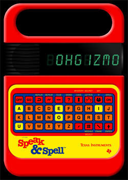 Speak & Spell (Image courtesy Handheld Remakes: The Archive)