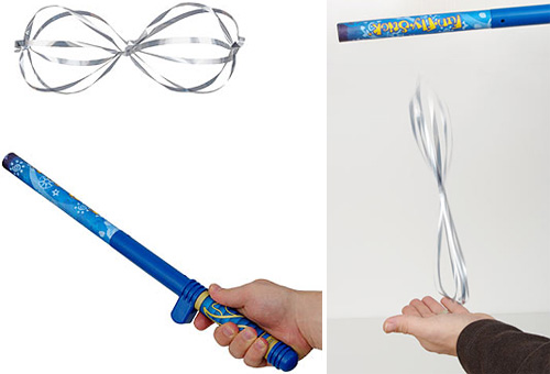 Fly Stick Van de Graaff Levitation Wand (Images courtesy ThinkGeek)