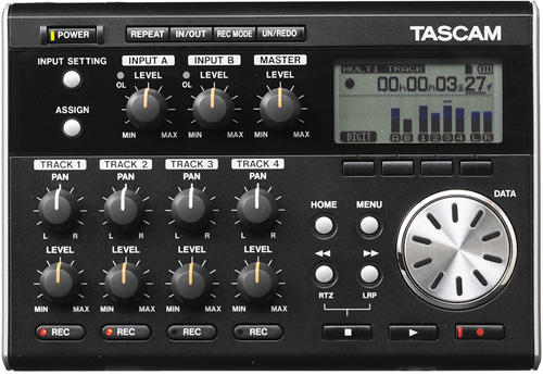 Tascam Digital Pocketstudio DP-004 (Image courtesy Tascam)