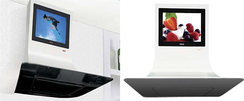 VELA LCD TV Rangehood (Images courtesy ILVE)