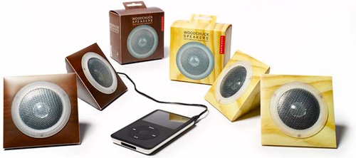 Woodchuck Speaker Set (Image courtesy Delight.com)