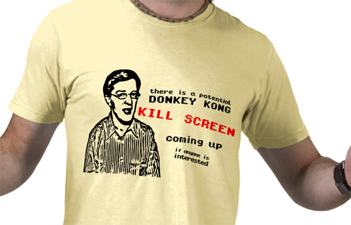 Brian Kuh's Kill Screen T-Shirt (Image courtesy Zazzle.com)