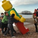 Giant Lego Figure Invades British Coast