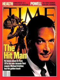 Michael Crichton (Image courtesy TIME Magazine)