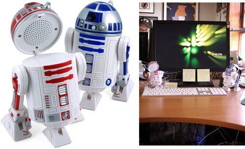 Star Wars R2-D2 Speaker Set (Images courtesy ThinkGeek)