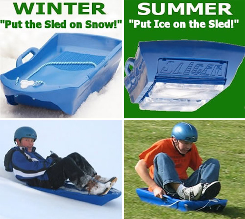SLICER All-Season Sled (Image courtesy Ice Meister)