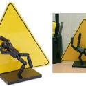 Stick Figure Caution Sign