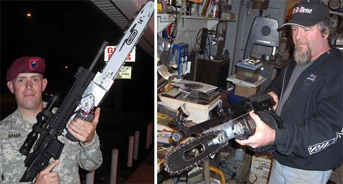 Chainsaw Bayonets (Images courtesy AR15.com Forums)
