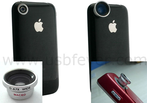 iPhone Magnetic Wide Angle Lens (Image courtesy USBfever)