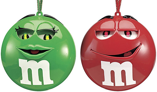 M&M'S Musical Ornaments (Image courtesy Catalog Favorites)