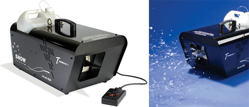 The Professional Motion Picture Snow Machine (Images courtesy Hammacher Schlemmer)
