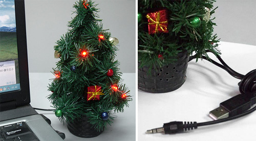 USB Light-Up Typing X'Mas Tree (Images courtesy GIFTWHOLE)