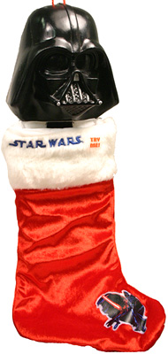 Star Wars Darth Vader Head Stocking With Sound (Image courtesy Wicked Cool Stuff)