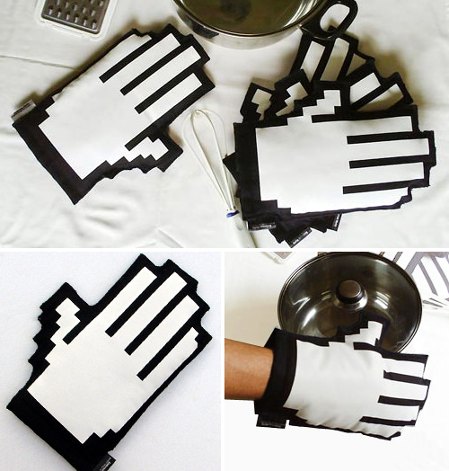 Clicking Oven Mitts (Images courtesy Bazar Design)
