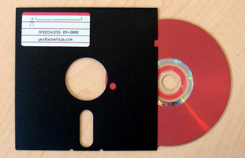 Floppy Disc CD Sleeve (Image courtesy Likecool)