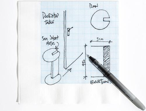 Graph Paper Napkins (Image courtesy uptoyoutoronto.com)