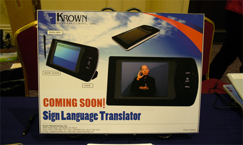 Krown Sign Language Translator (Image property of OhGizmo!)