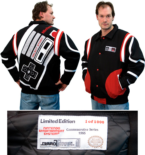 Limited Edition NES Controller Varsity Jacket (Images courtesy 80sTees)