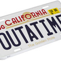 Back To The Future 'OUTATIME' License Plate Replica