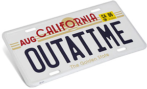 Back To The Future License Plate Replica (Image courtesy ThinkGeek)