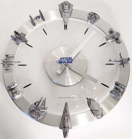 Star Wars Starships and Fighters Clock (Images courtesy Etsy)