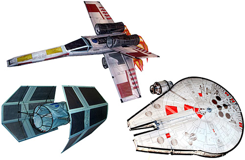 3D Star Wars Starfighter Kites (Images courtesy ThinkGeek)